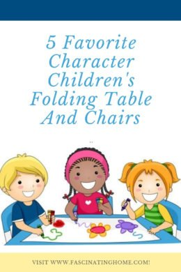 5 Childrens Character Folding Table and Chairs