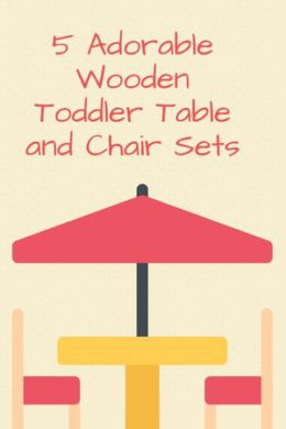 5 Toddler Wooden Table And Chair Set