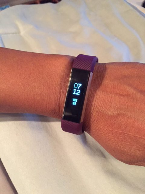 Fitbit Alta Showing Date and Time