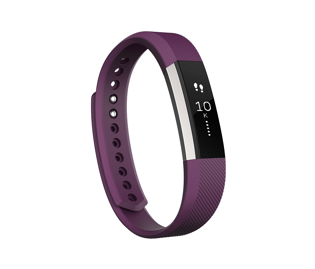 Fitbit Alta in Plum Showing Steps