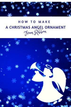 How To Make A Christmas Angel Ornament From Ribbon