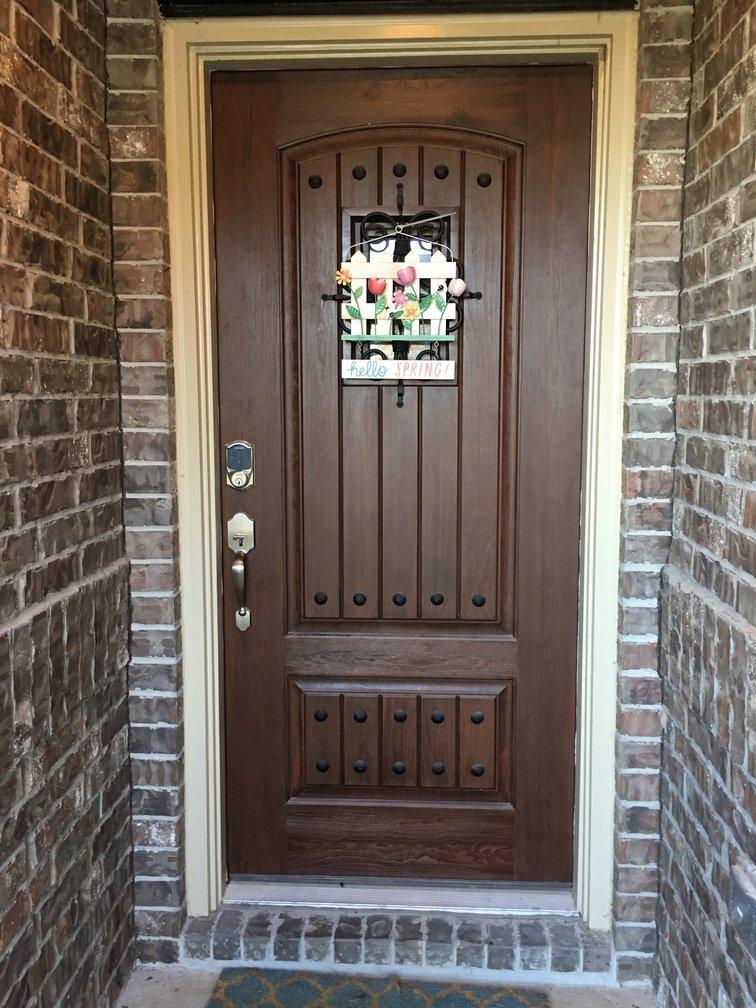 Door with Schlage be469 smart lock