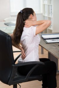Neck and back pain while sitting