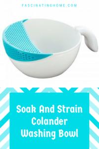 Soak and Strain Colander Washing Bowl