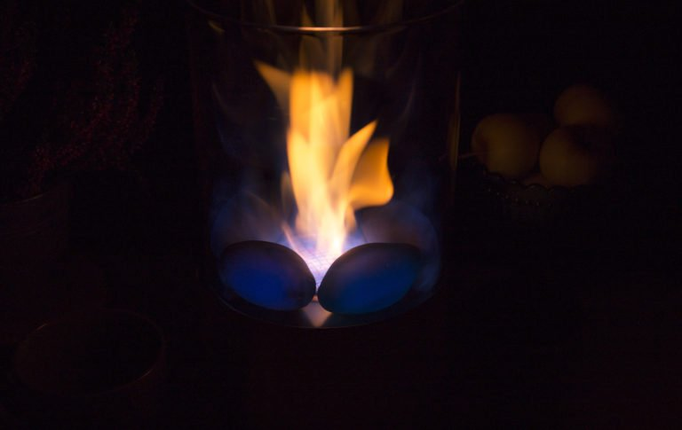 Decorative Black Indoor Outdoor Tabletop Fireplace