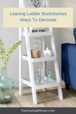 leaning ladder bookshelves