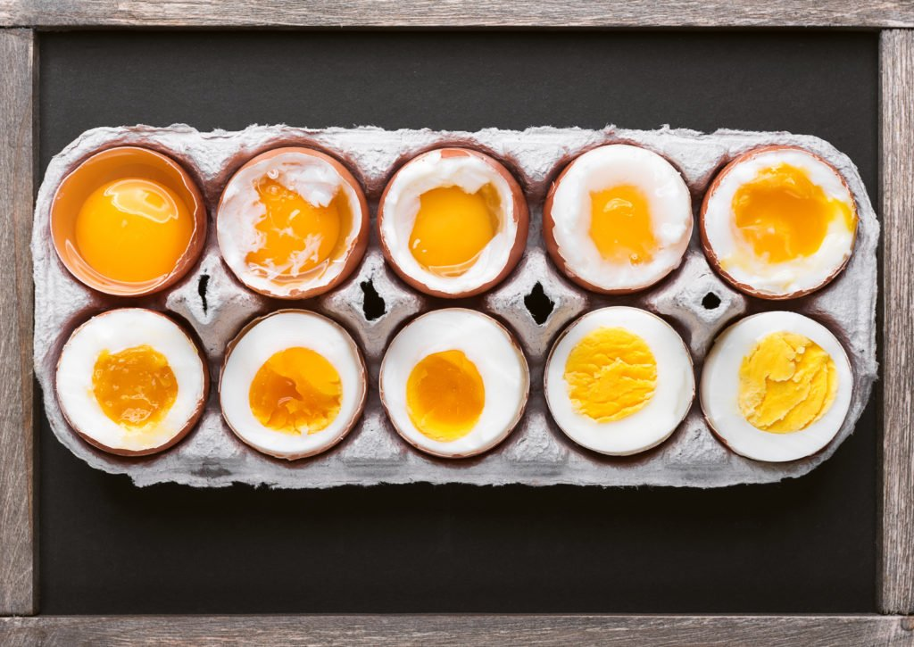 soft medium hard boiled eggs