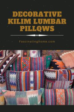 decorative kilim lumbar pillows