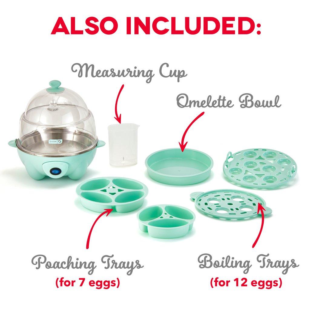 dash deluxe egg cooker dec012aq features